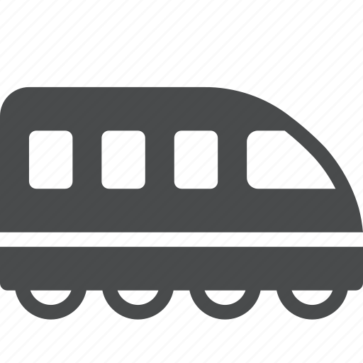 locomotive, metro, railway, subway, train, tram icon