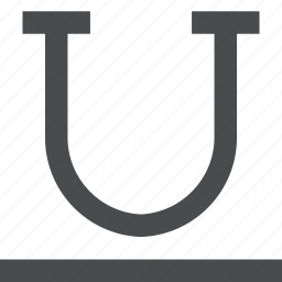 text, underline icon