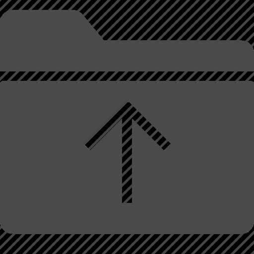 arrow, folder, import, share, up icon