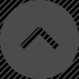 arrow, chevron, circle, up icon