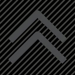 chevrons, up icon
