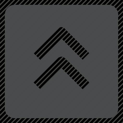 chevrons, square, up icon
