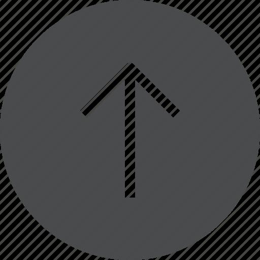 arrow, circle, import, up, upload icon