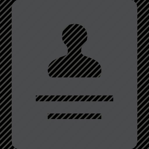 account, badge, contact, id, info, profile, user icon