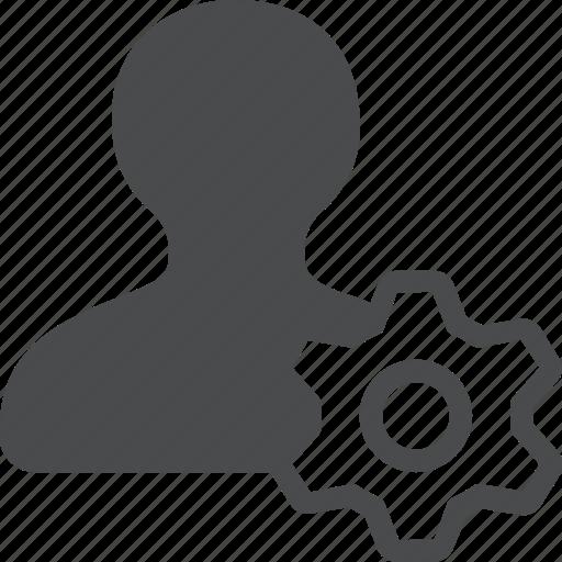 account, avatar, gear, profile, settings, user icon