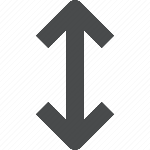 arrows, height, navigation, vertical icon