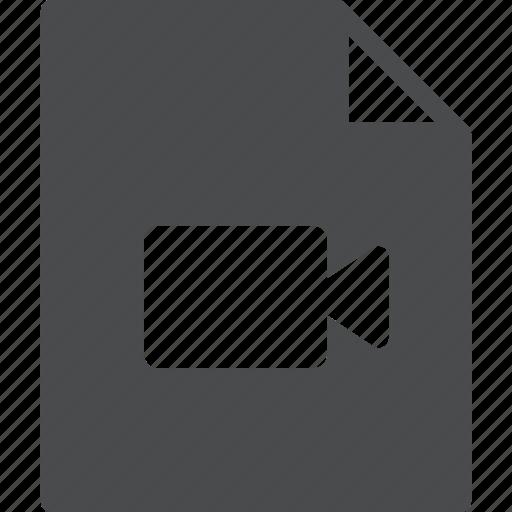 file, media, movie, video icon