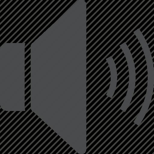 Volume, audio, loud, music, sound, speaker icon - Download on Iconfinder
