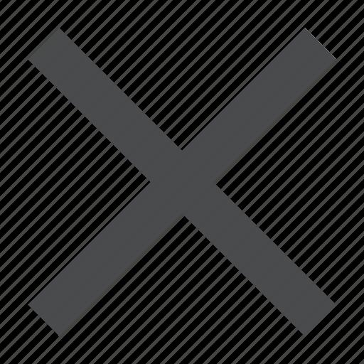 X, cancel, close, delete, remove icon - Download on Iconfinder