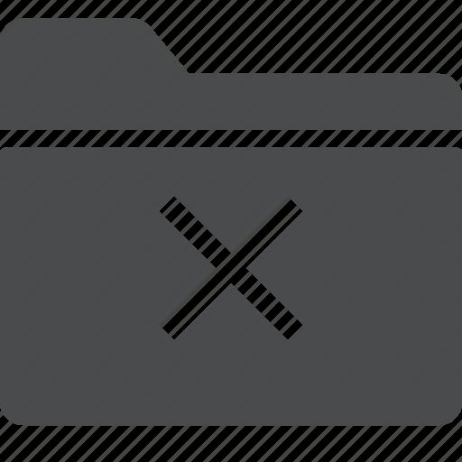 delete, folder, remove, x icon