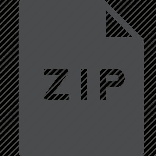 document, file, zip icon