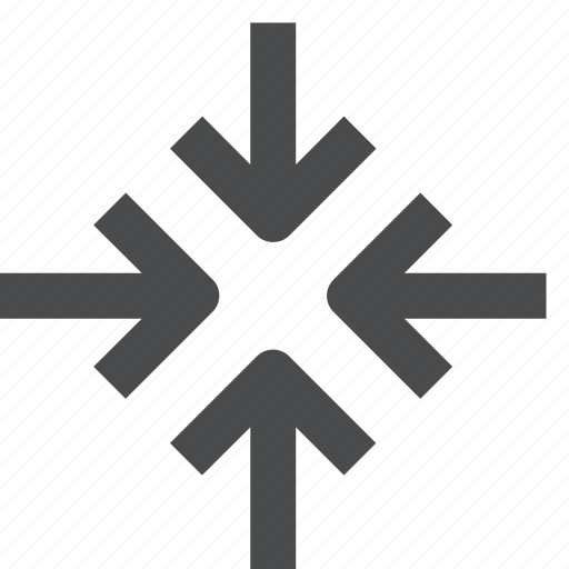 center, collapse, direction, minimize, shrink icon