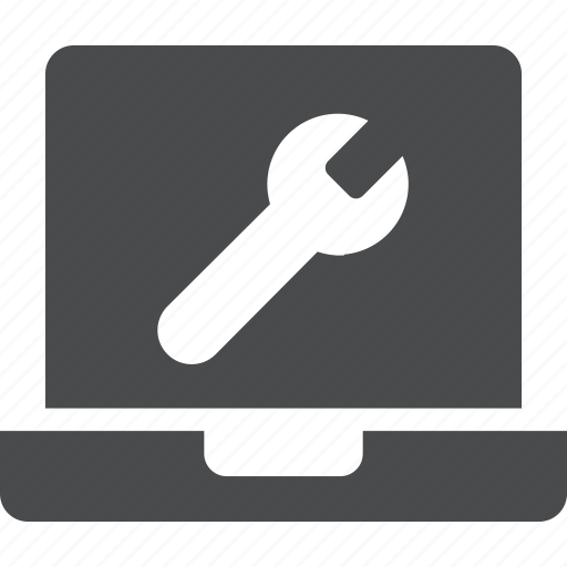 computer, device, display, hardware, laptop, maintenance icon
