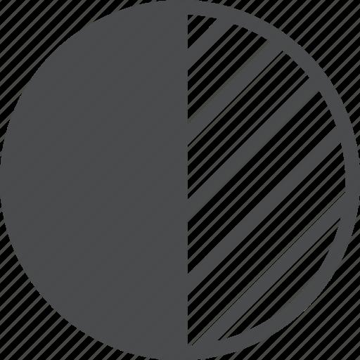 brightness, chart, contrast, graph, pie icon
