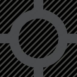 aim, bullseye, crosshair, focus, goal, target icon