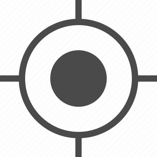 aim, bullseye, center, crosshair, focus, goal, target icon