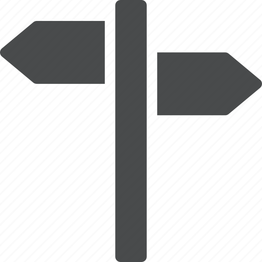 arrows, crossroad, direction, guide, navigate, navigation, sign icon