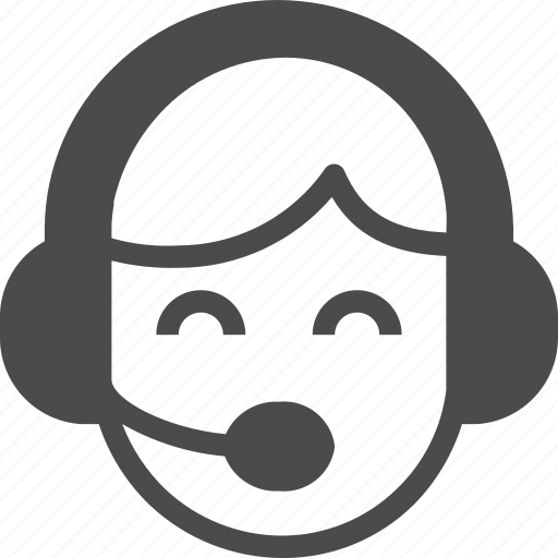 customer, headset, service, support icon