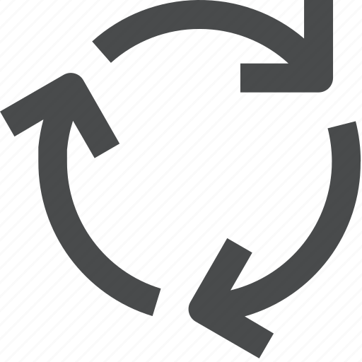 continuous, cycle, loading, process, recycle icon