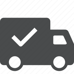complete, delivered, delivery, shipping, shopping, transportation icon