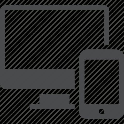 Computer, devices, gadget, gadgets, tech icon