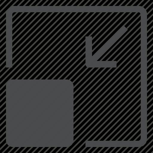 downsize, minimize, scale icon