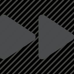 arrows, fast, forward, media icon