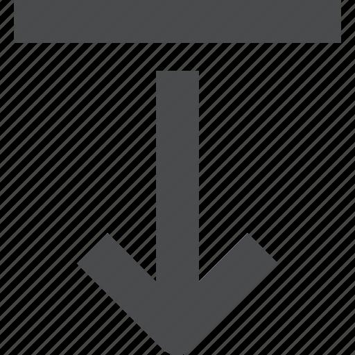 arrow, bottom, down, go, to icon