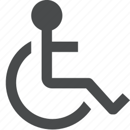 disability, disabled, handicap, handicapped, wheelchair icon