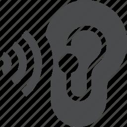aid, audio, ear, earbud, hearing, listen icon