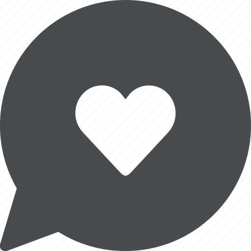chat, favorite, heart, like, love, message, text icon
