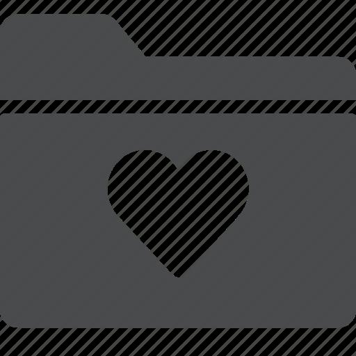 category, favorite, folder, heart icon