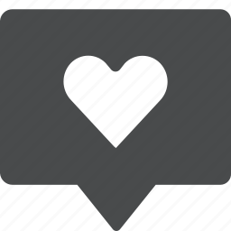 chat, heart, like, love, message, sext, text icon