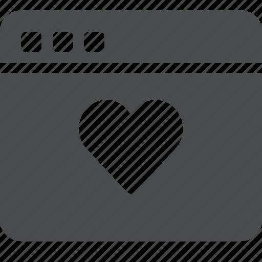 favorite, heart, internet, like, love, webpage, website icon