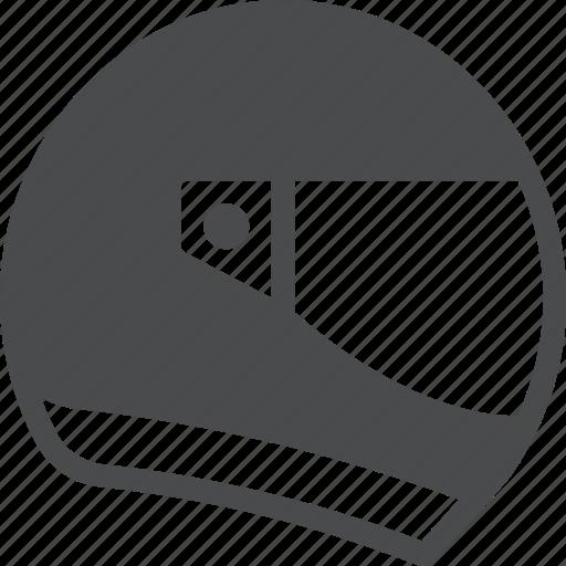 driver, helmet, racecar icon