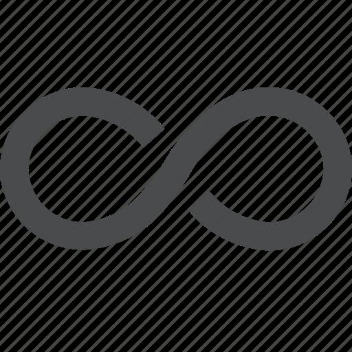 eternity, infinite, infinity, loop, unlimited icon