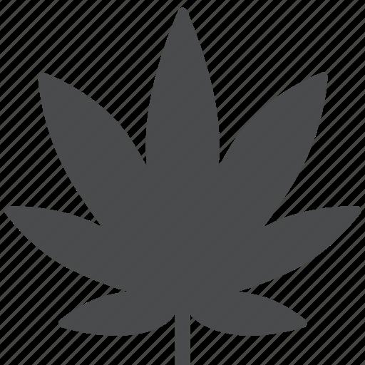ganja, leaf, marijuana, reefer, weed icon