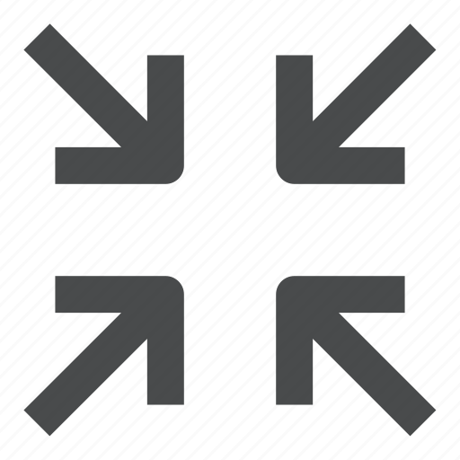 compress, minimize, reduce, shrink icon