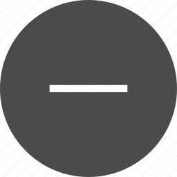 circle, minus, remove, subtract icon