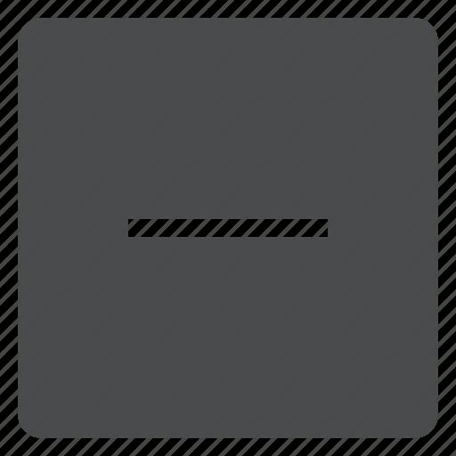 minus, remove, square, subtract icon
