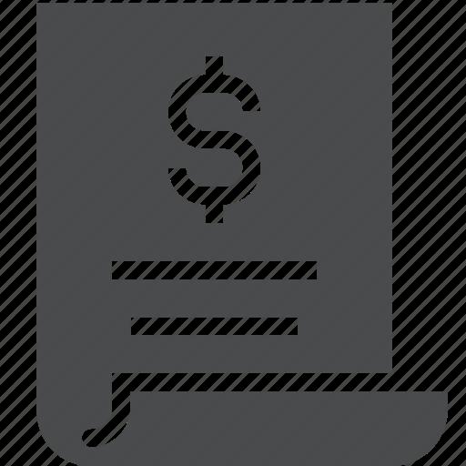 certificate, document, loan, money icon