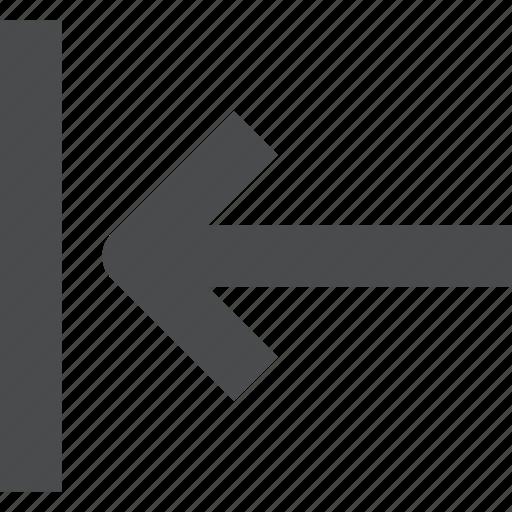 left, move, shift icon