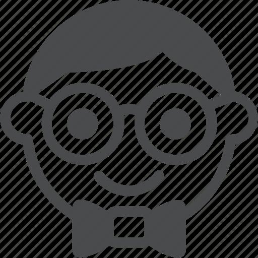 boy, geek, man, nerd icon