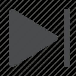 media, navigation, next icon