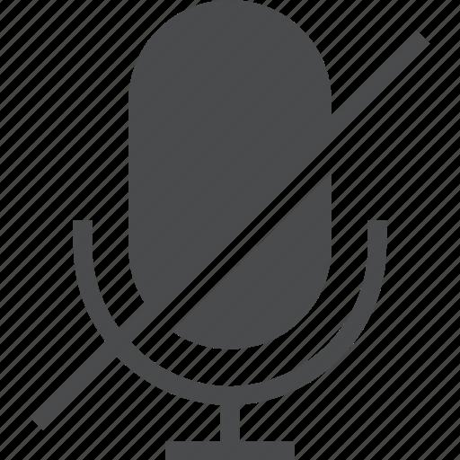 audio, mic, no, off, sound icon