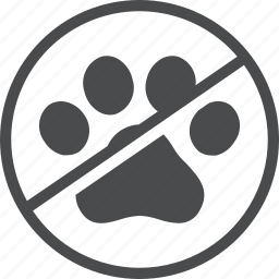 animals, dogs, no, pets icon