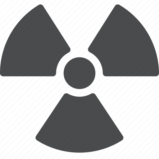danger, nuclear, radiation, warning, waste icon