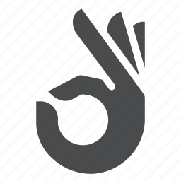 gesture, hand, ok, on point icon