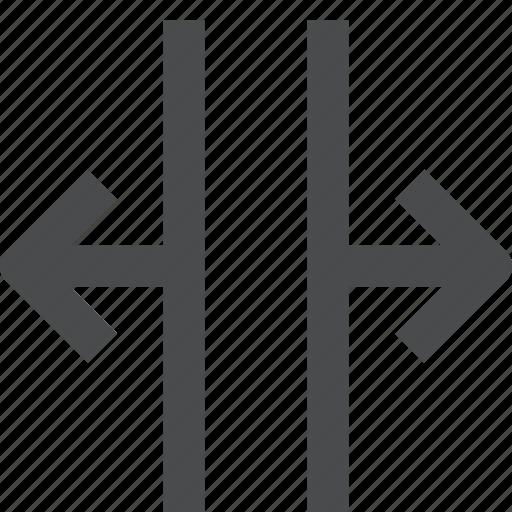 horizontally, open icon