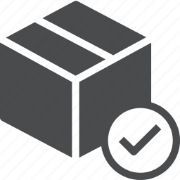 delivered, logistics, package, product, shipped icon